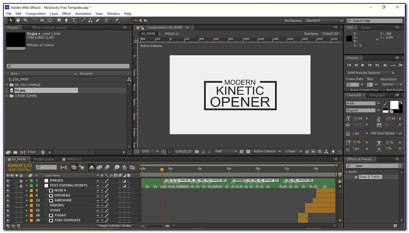 Free After Effects Template Tutorial
