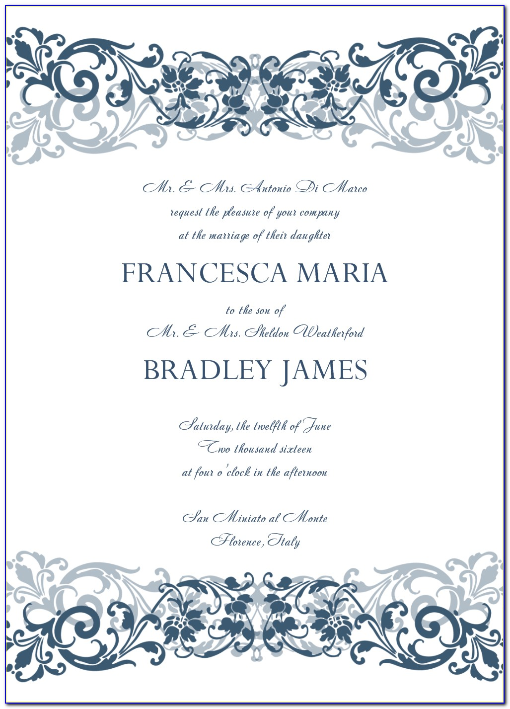 Free Blank Printable Templates For Invitations