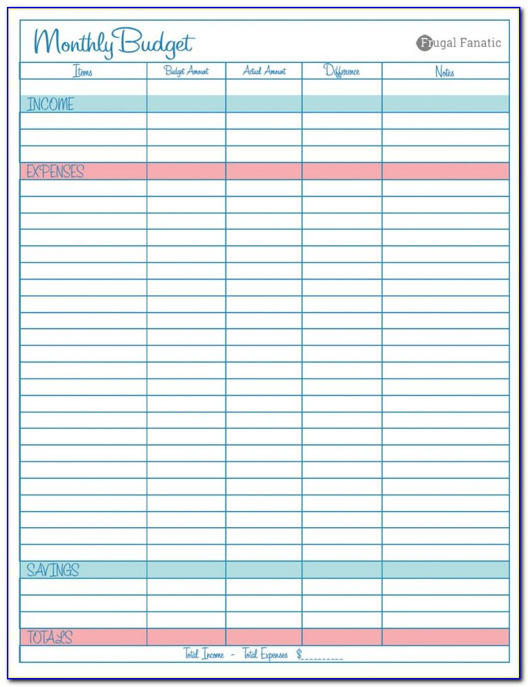 Free Budget Excel Spreadsheet Templates