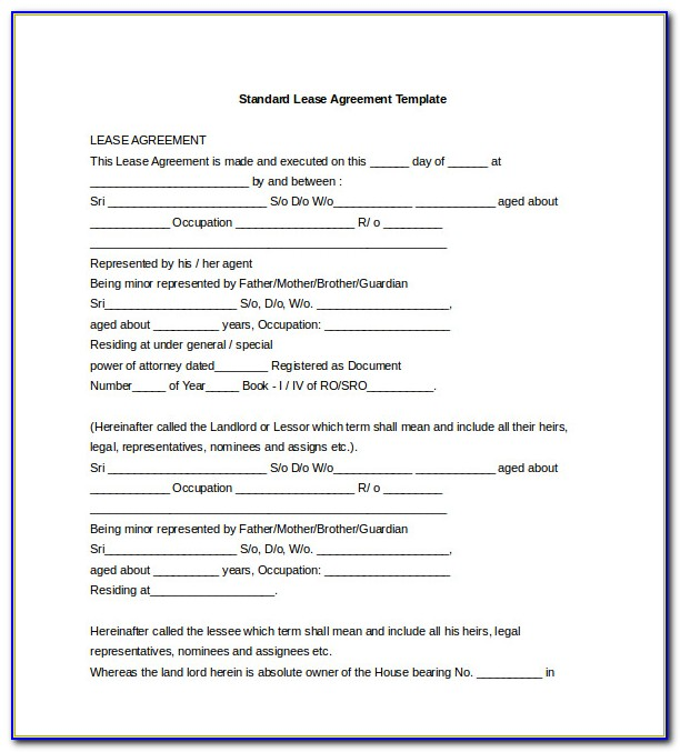 Free California Lease Agreement Template Download