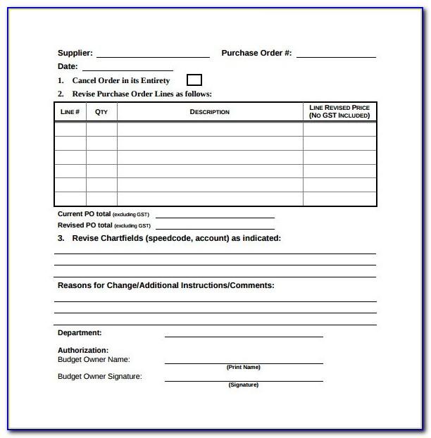 Free Change Order Template Pdf