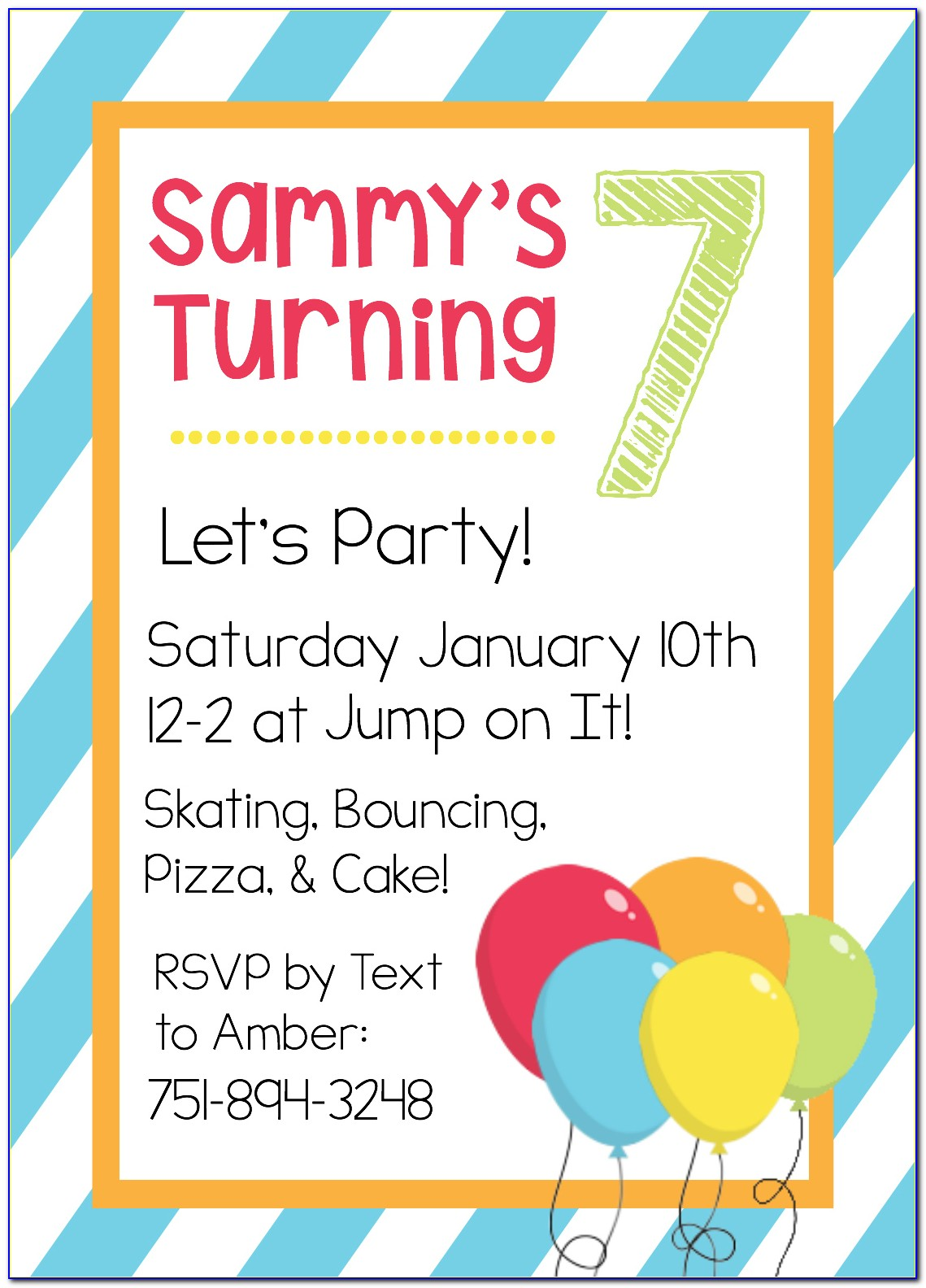 Free Child's Birthday Invitation Template