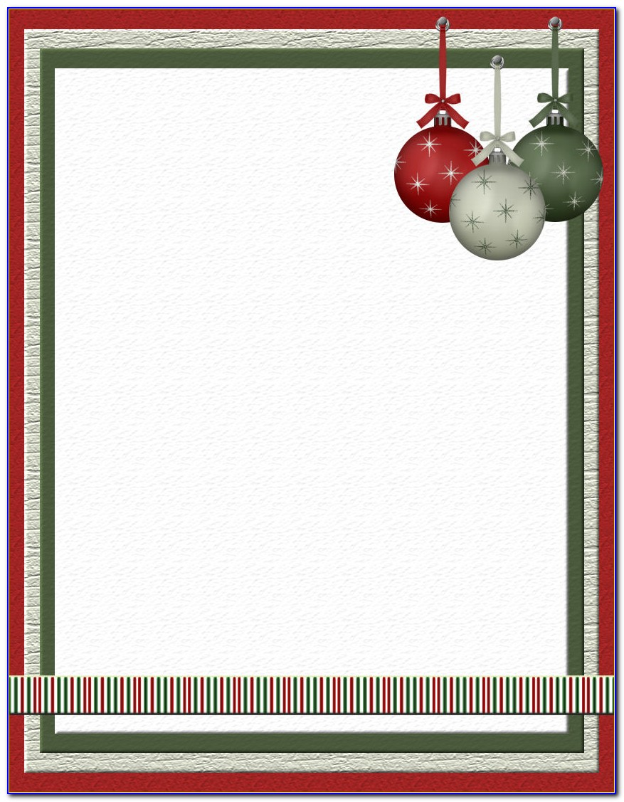 Free Christmas Stationery Template