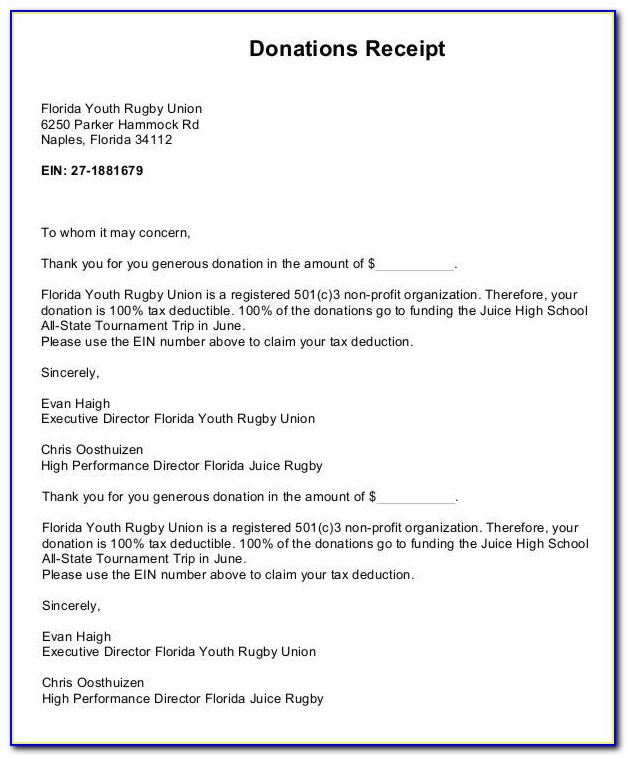 Free Church Donation Letter Template