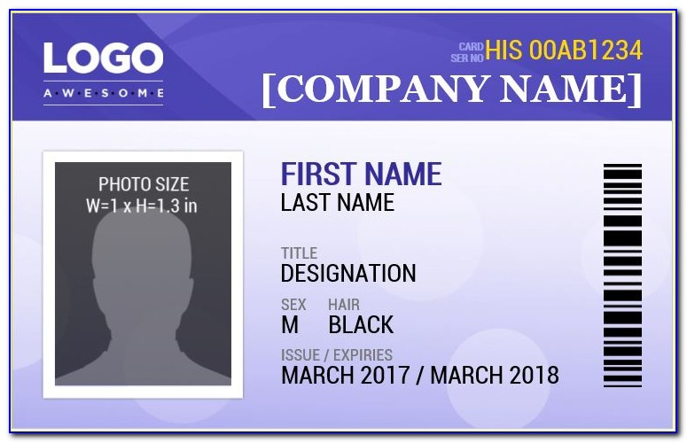 Free Company Id Badges Templates