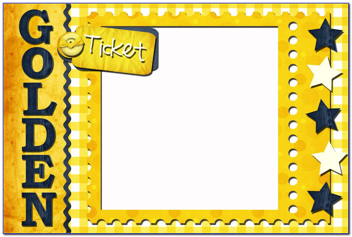 Free Customizable Golden Ticket Template