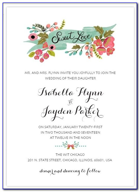 523 Free Wedding Invitation Templates You Can Customize In Customizable Wedding Invitation Templates