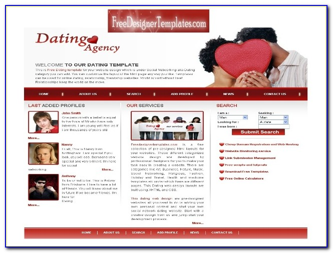 Free Dating Website Templates Html