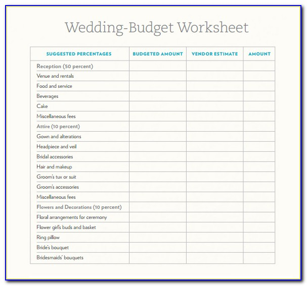 Free Destination Wedding Budget Template