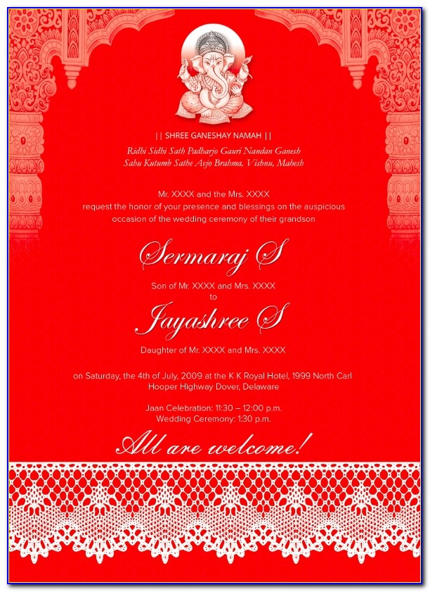 Free Download Indian Wedding Invitation Templates Microsoft Word