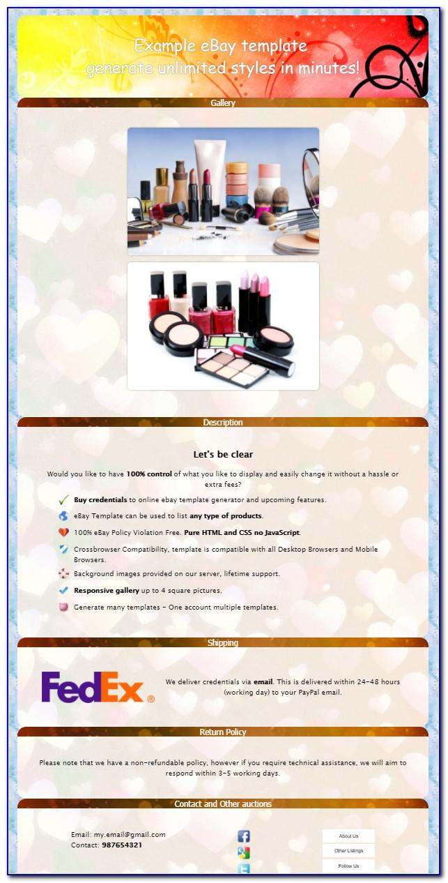 Free Ebay Html Template Creator