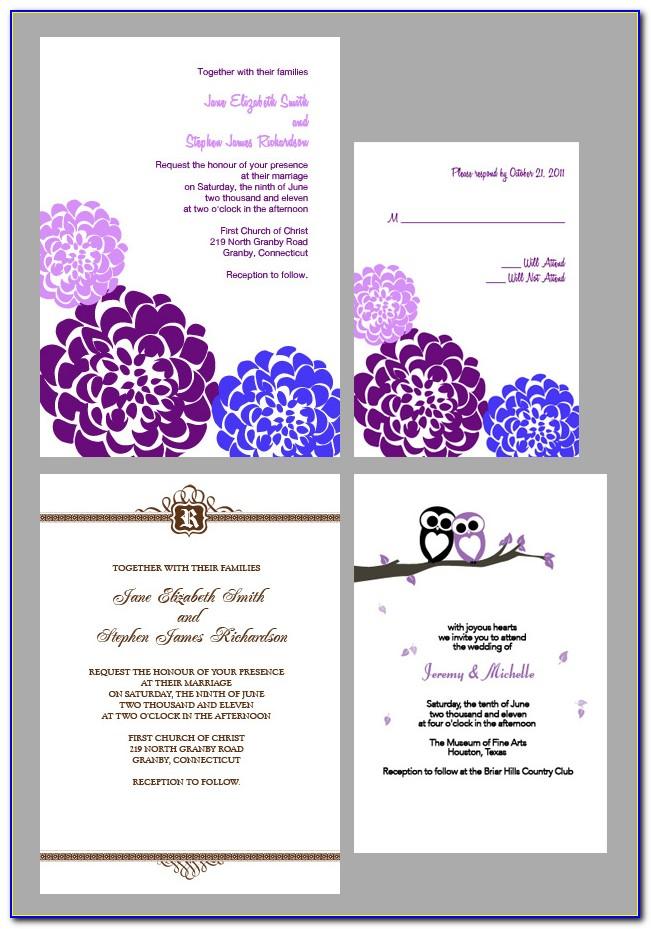 Free Editable Rustic Wedding Invitation Templates
