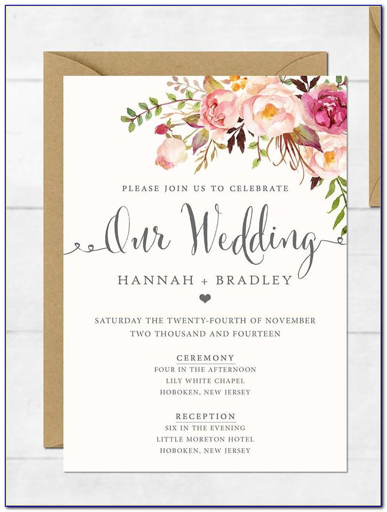 Free Editable Wedding Invitation Card Templates