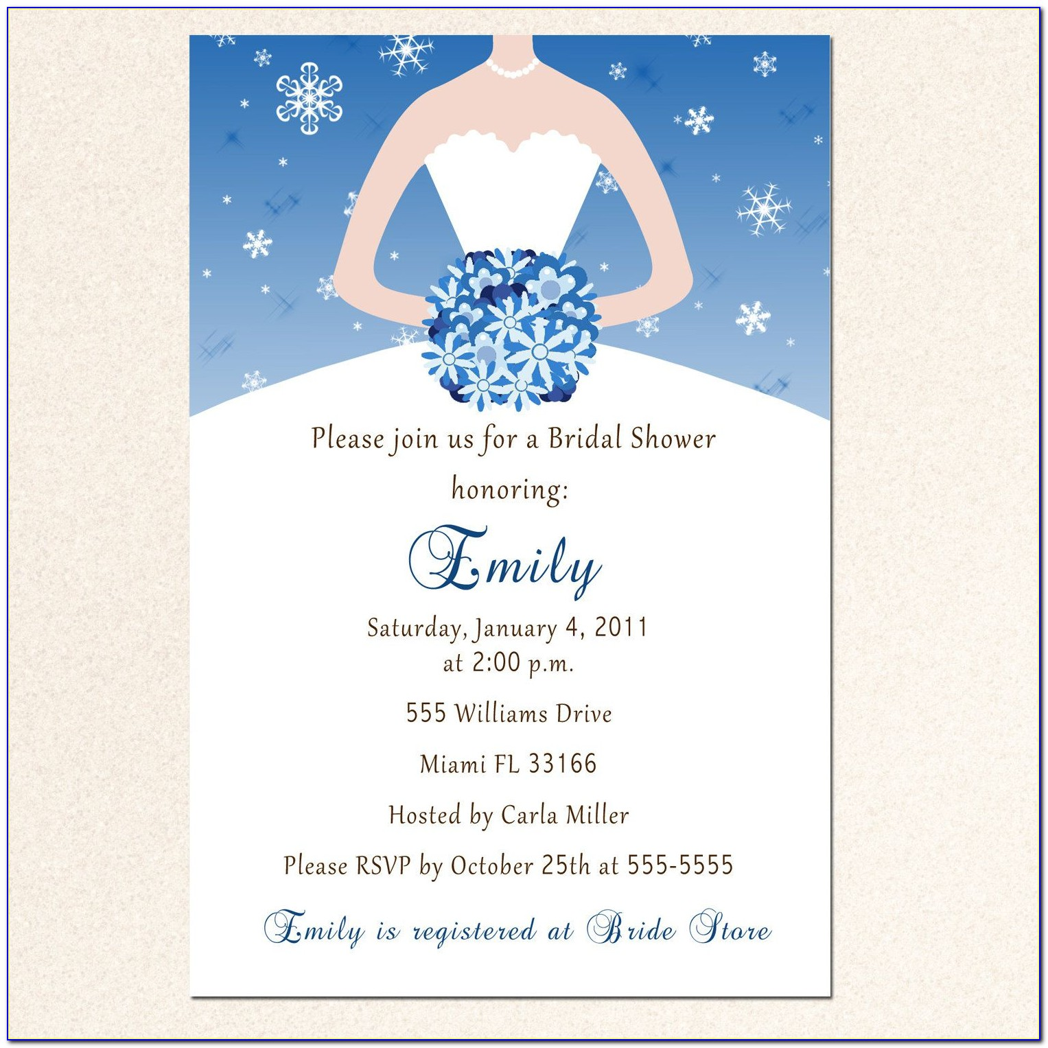 Free Electronic Bridal Shower Invitation Templates