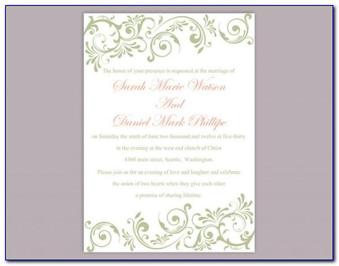 Free Elegant Graduation Invitation Templates