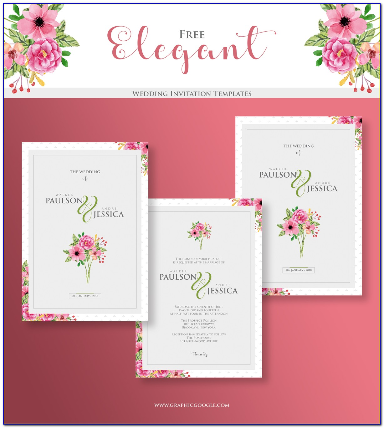 Free Elegant Wedding Invitation Templates