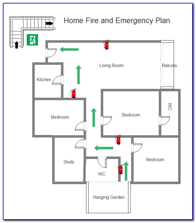 Free Emergency Evacuation Floor Plan Template