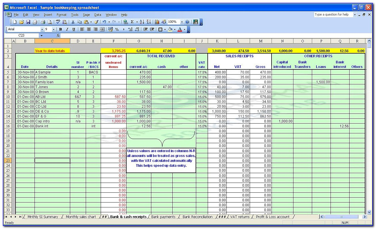 Free Excel Templates For Business Accounting
