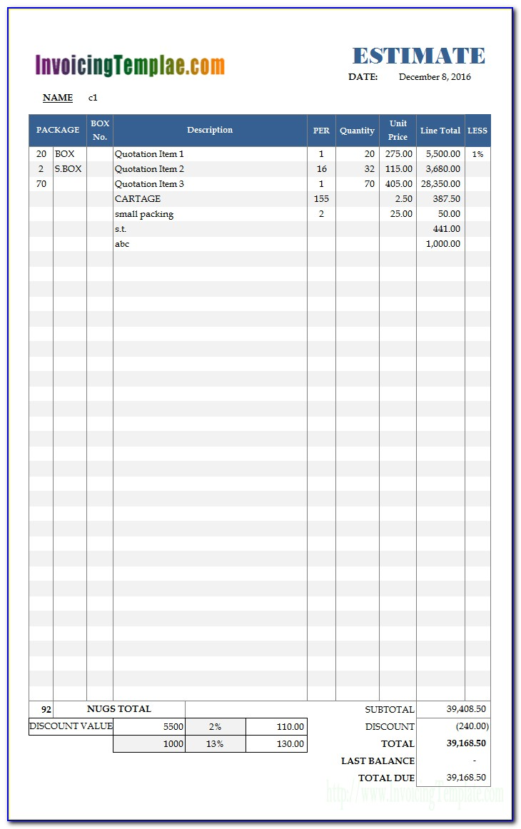 Free Excel Templates For Business Download