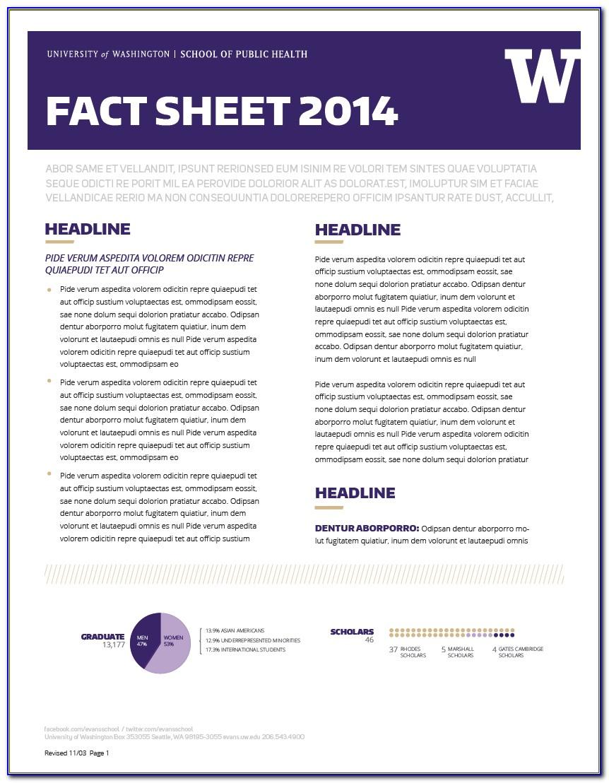 Free Fact Sheet Template Download