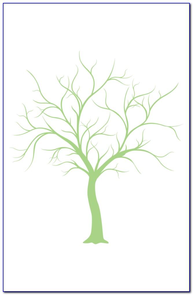 Free Fingerprint Tree Wedding Guest Book Template