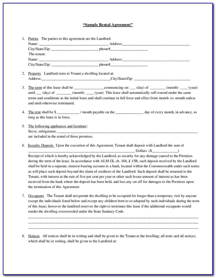 Free Furniture Rental Agreement Template