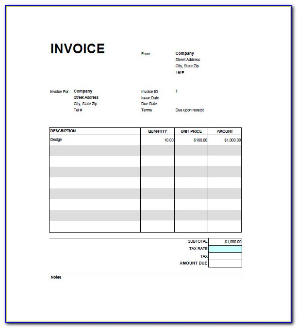 Free Google Sheets Invoice Template