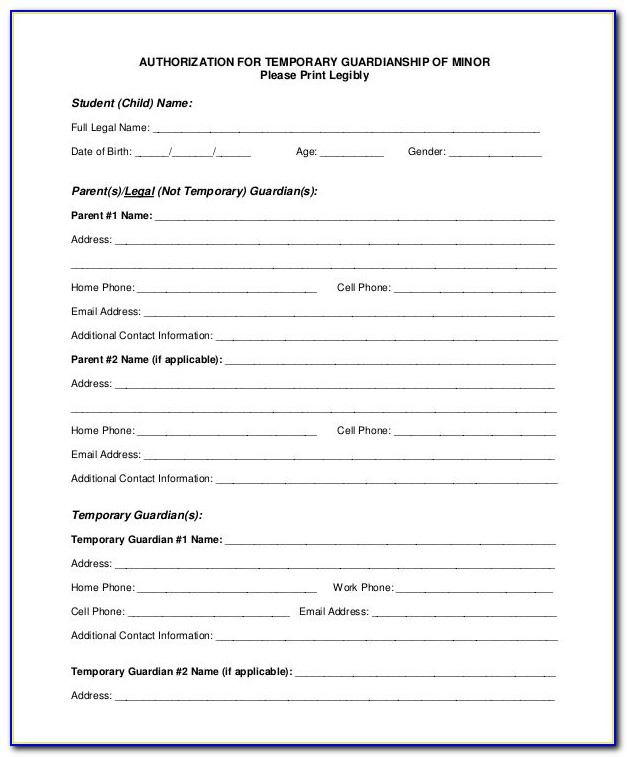 Free Guardianship Letter Template