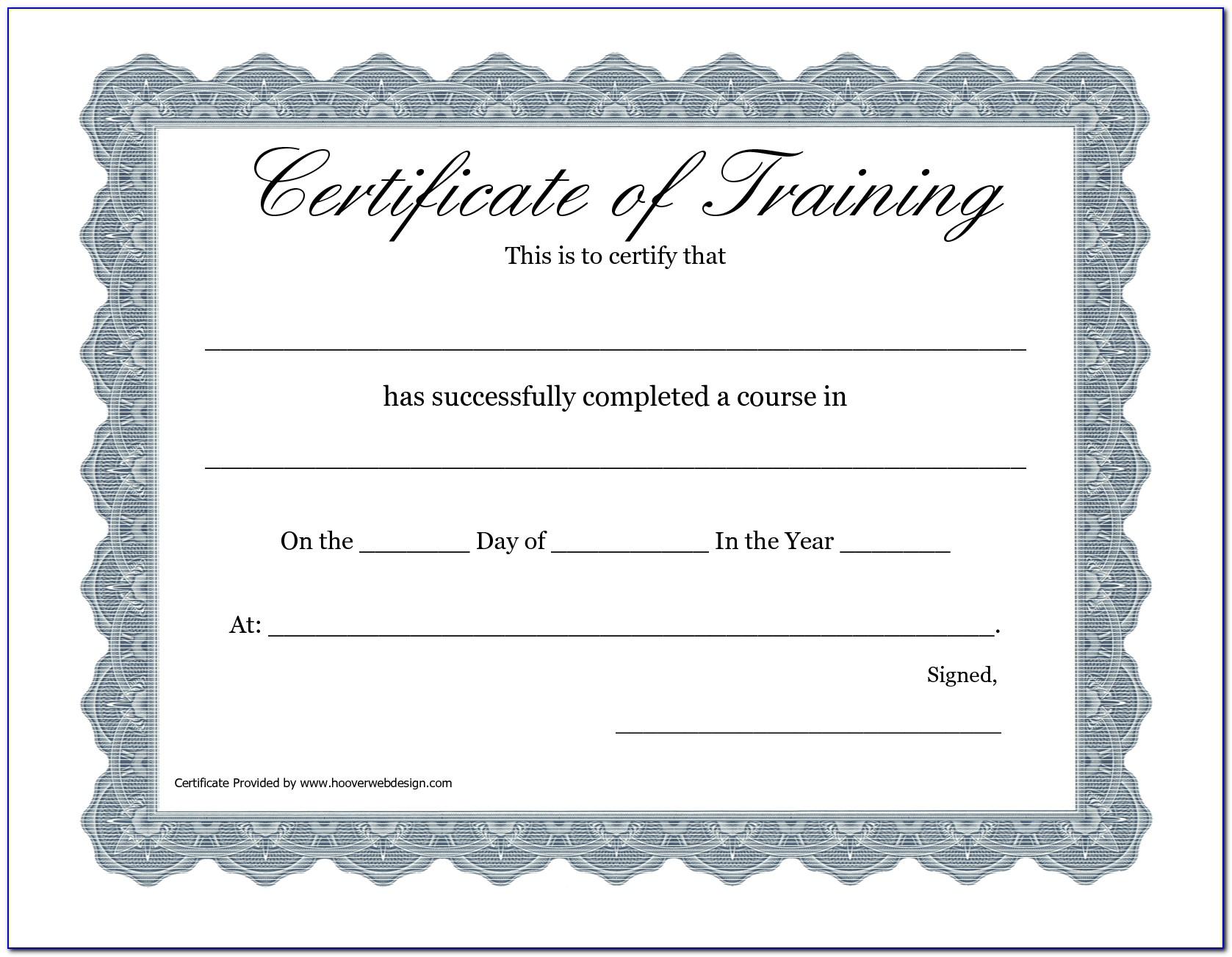 Free Hipaa Training Certificate Template