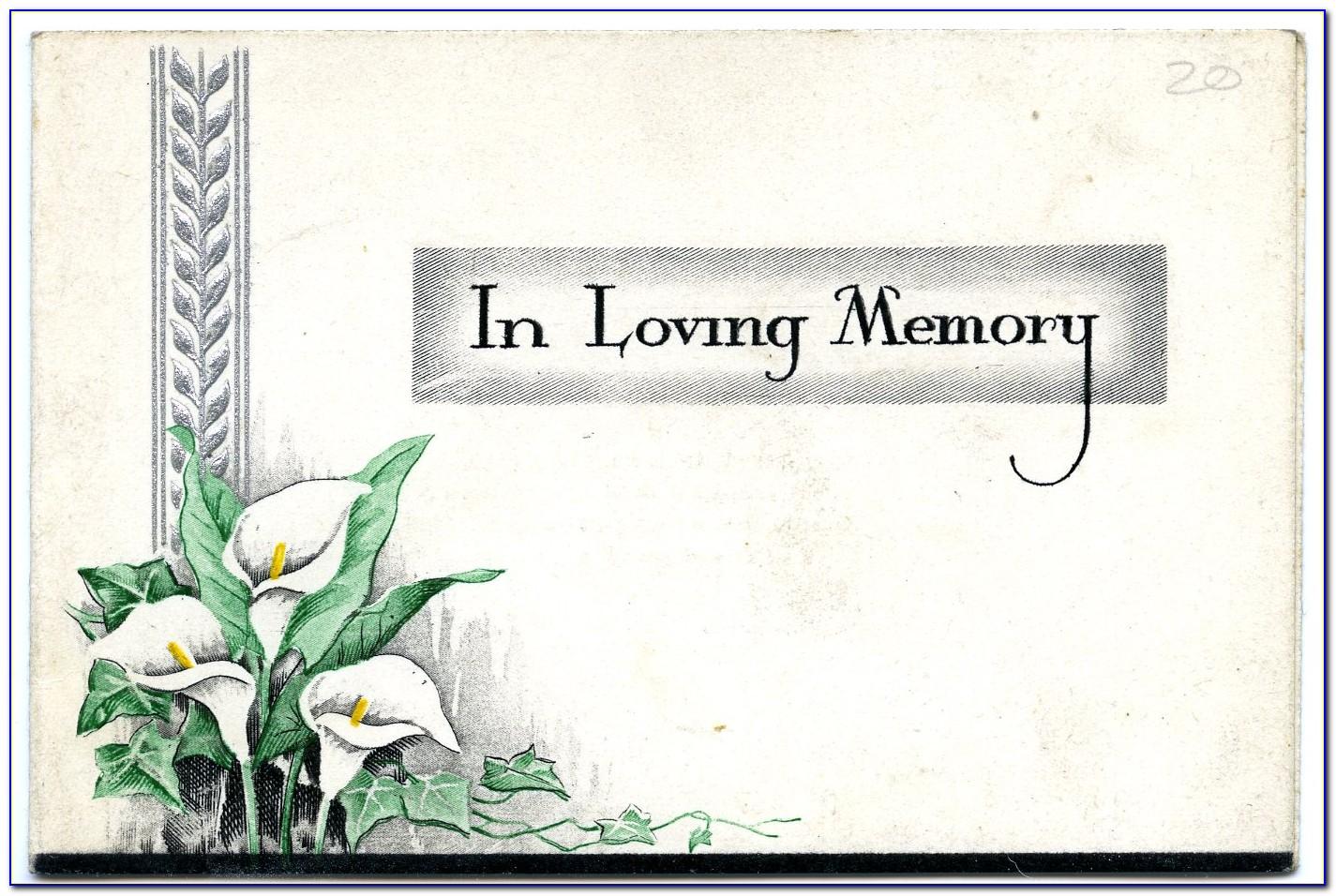 Free In Memoriam Cards Template