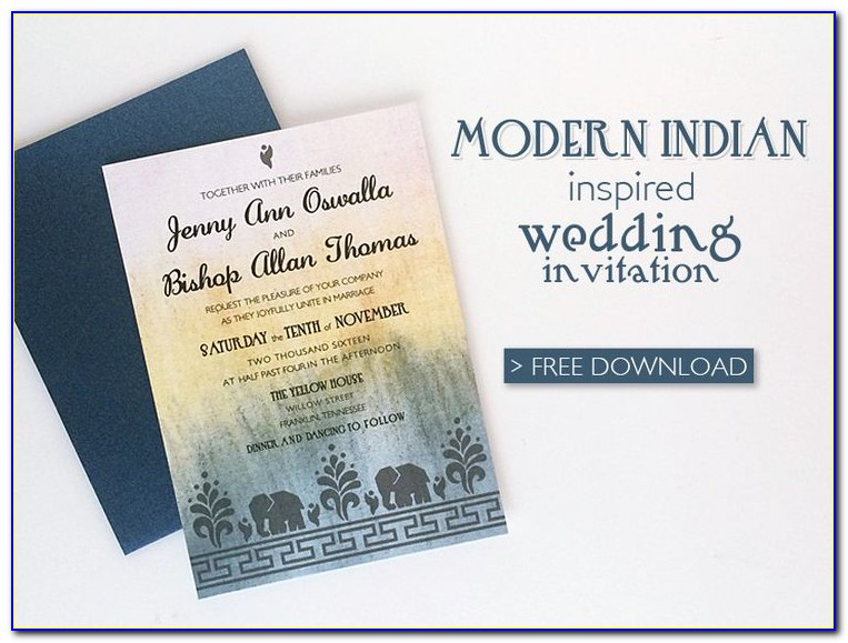 Free Indian Wedding Invitation Templates For Email