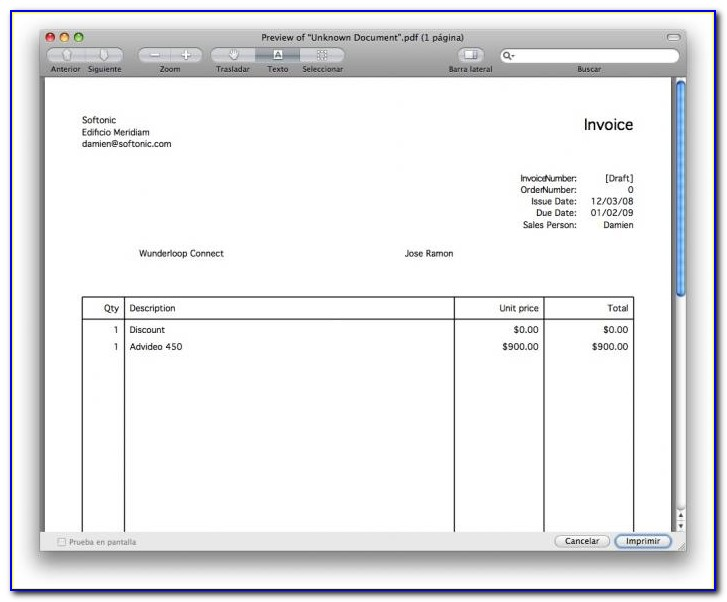 Free Invoice Template For Macbook Air