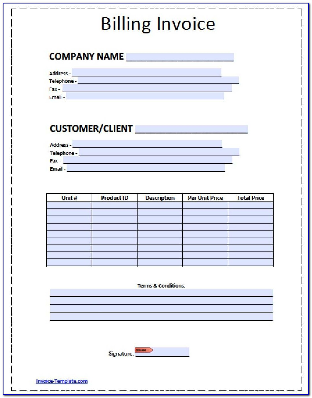 Free Invoice Templates Pdf