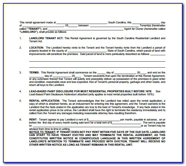 Free Landlord Tenant Contract Template