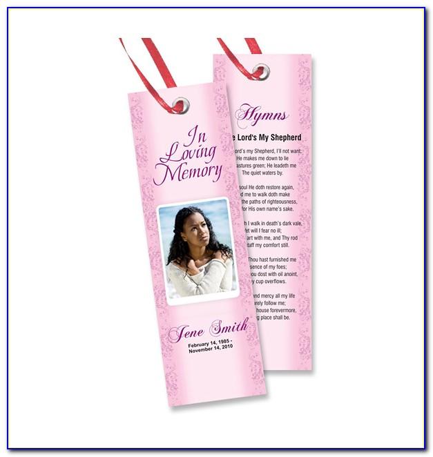 Free Memorial Bookmark Template Download