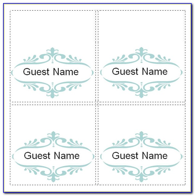 Free Name Place Card Template Word