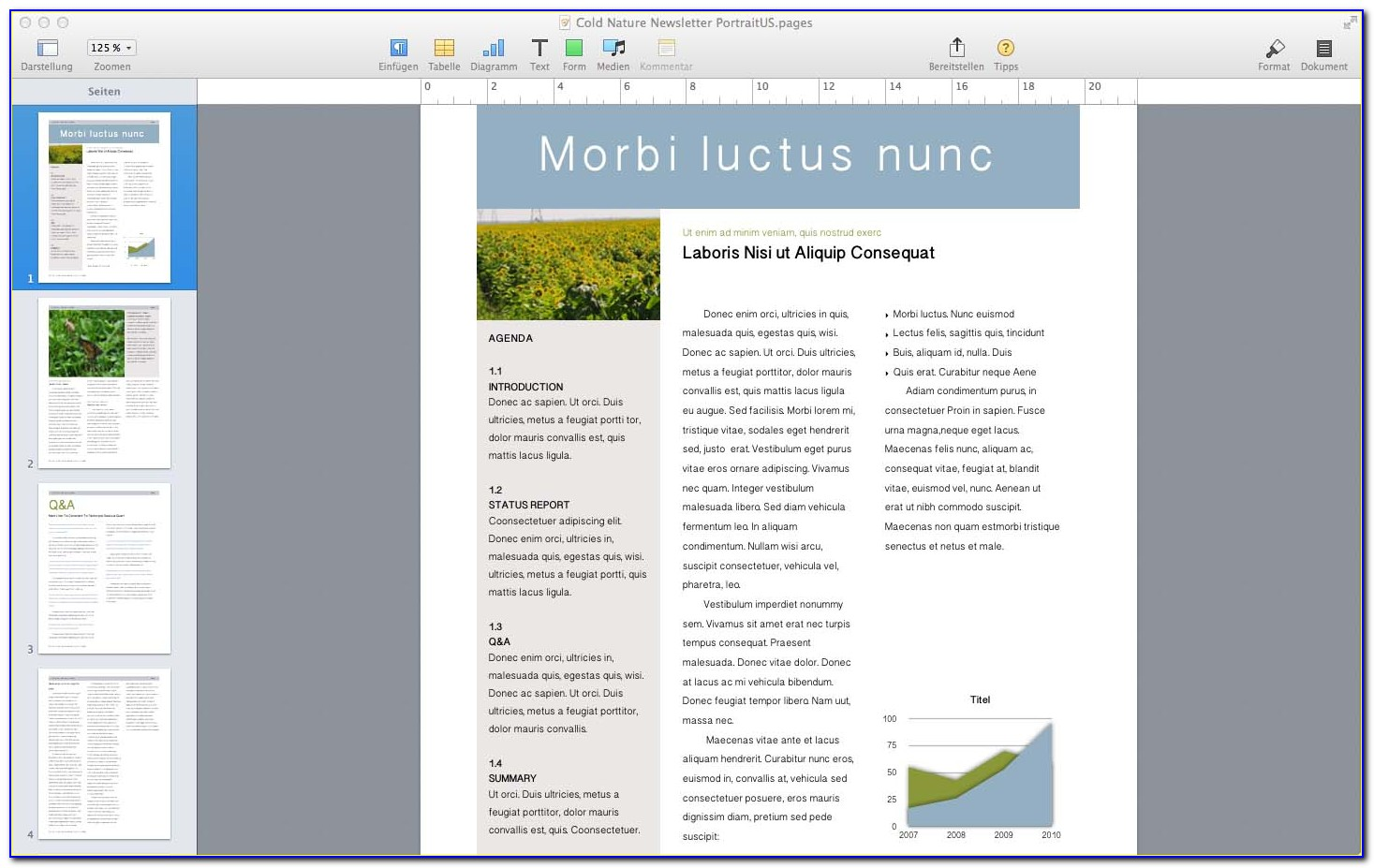 Free Newsletter Templates For Mac Pages