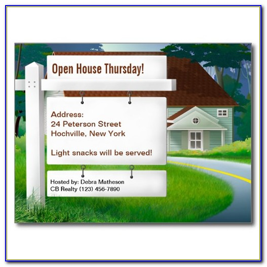 Free Open House Postcard Template
