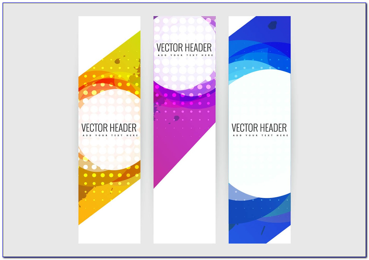 Free Photoshop Vertical Banner Templates