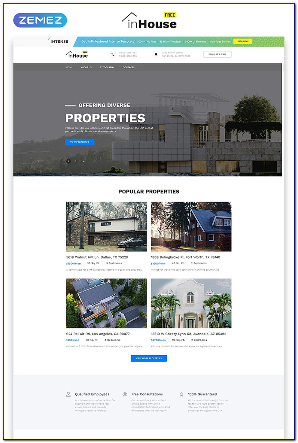 Free Php Real Estate Website Templates