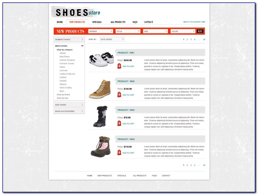 Free Php Website Templates For Online Shopping