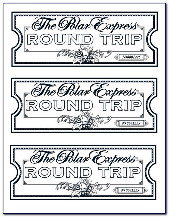 Free Polar Express Train Ticket Template