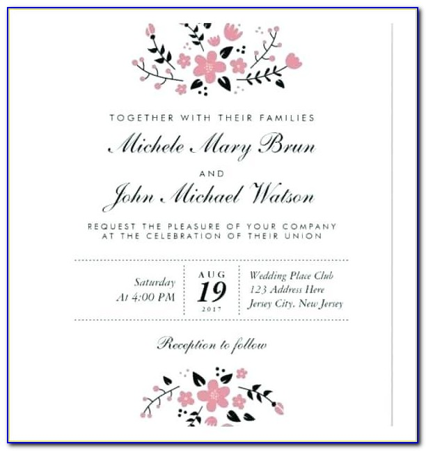 Free Post Wedding Reception Invitation Templates
