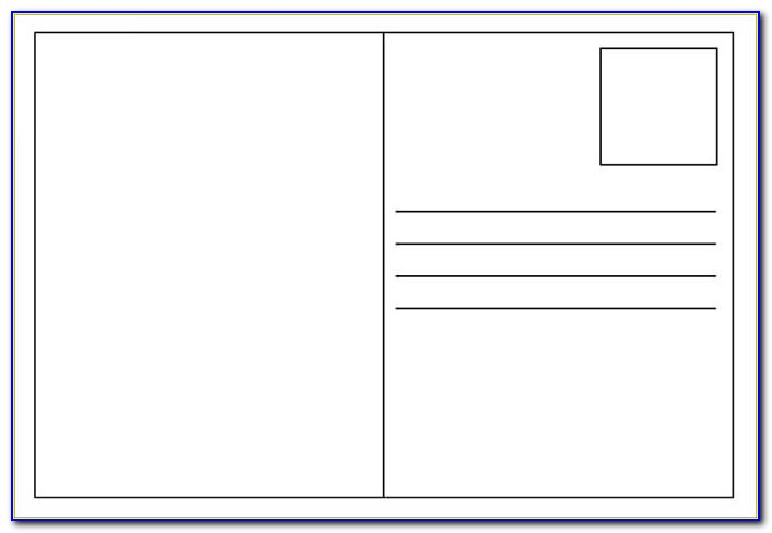 Free Postcard Layout Template