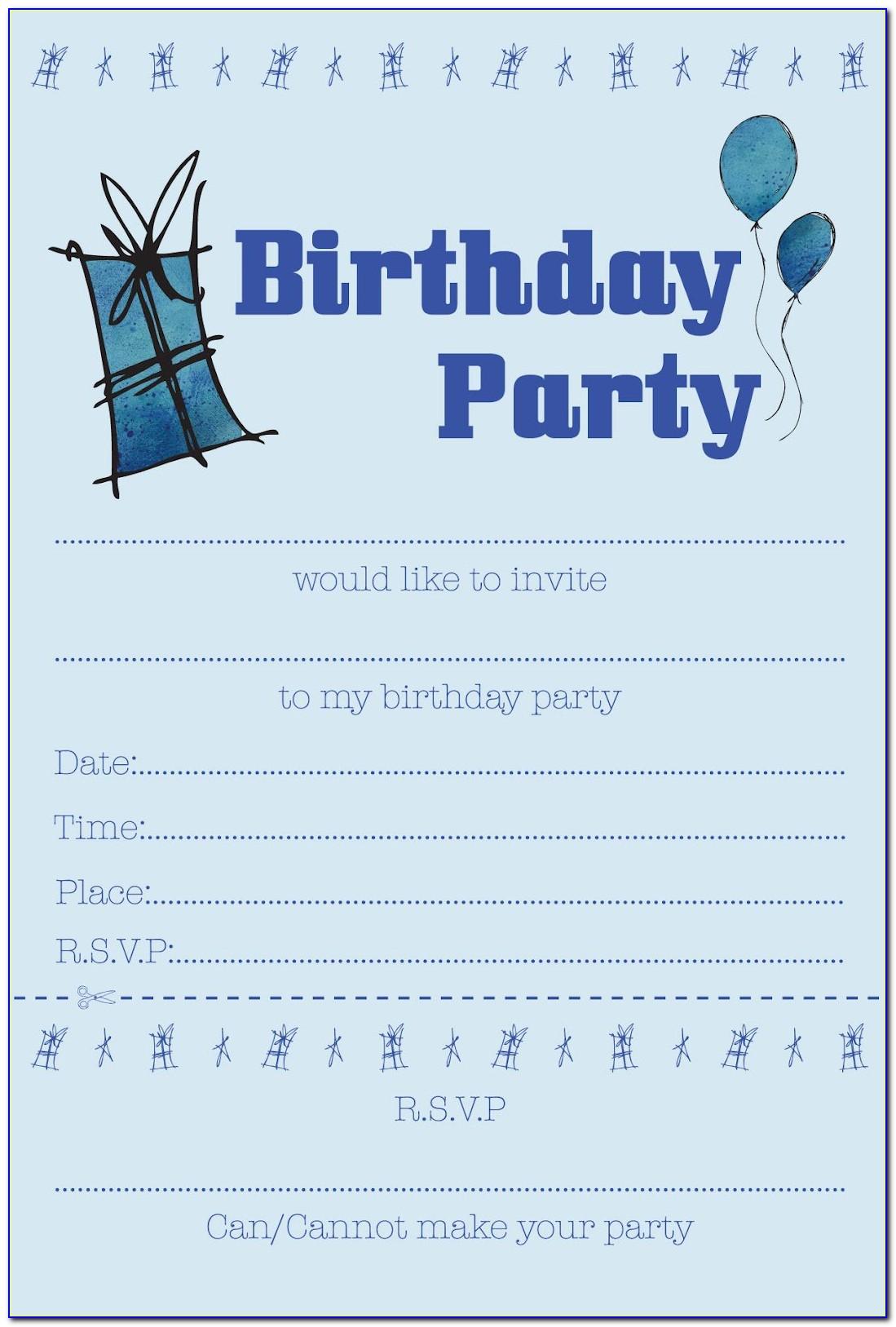 Free Printable Birthday Invitation Templates For Word
