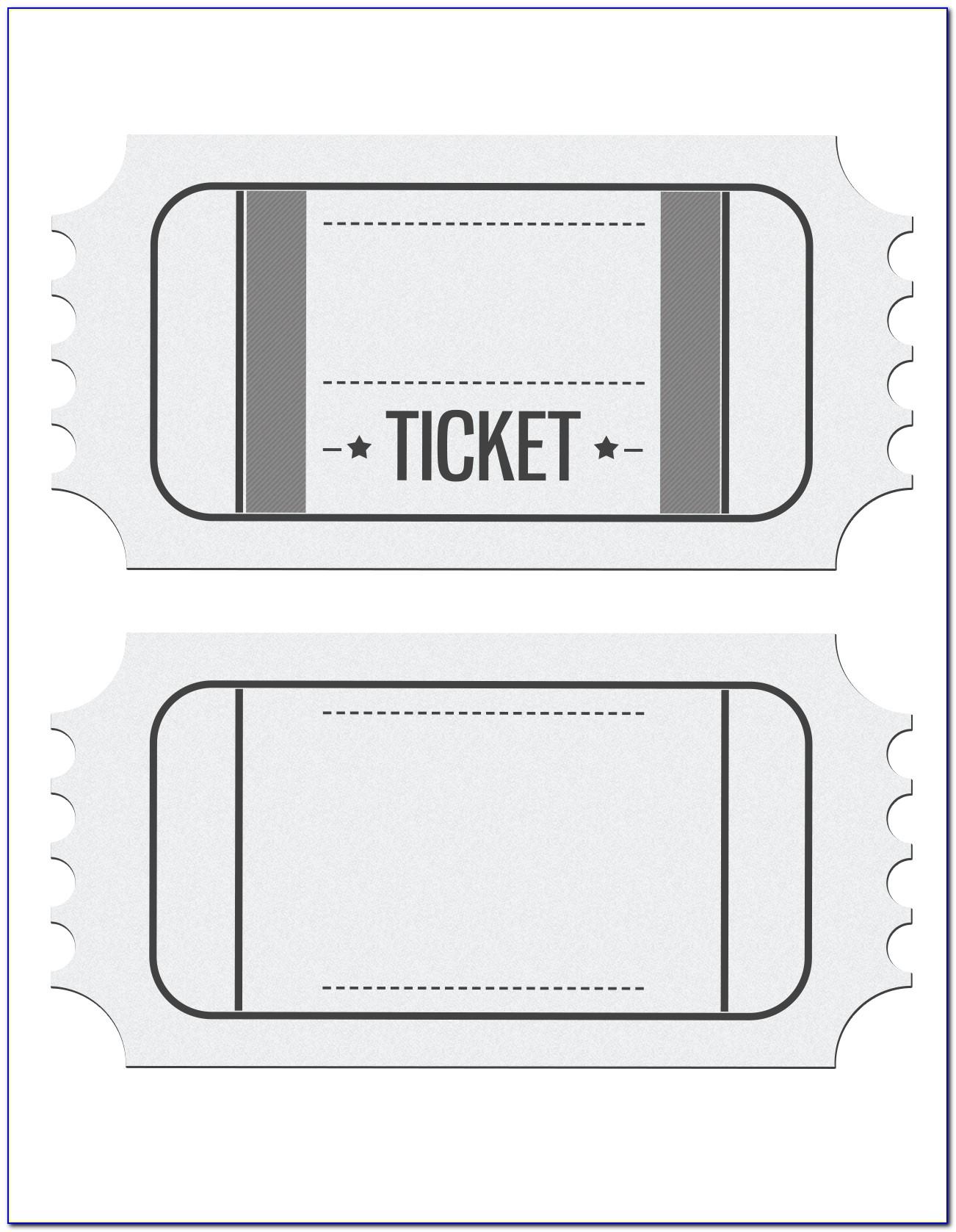 Free Printable Blank Ticket Templates