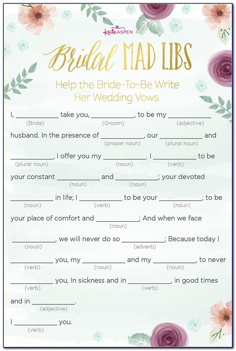 Free Printable Bridal Shower Game Templates