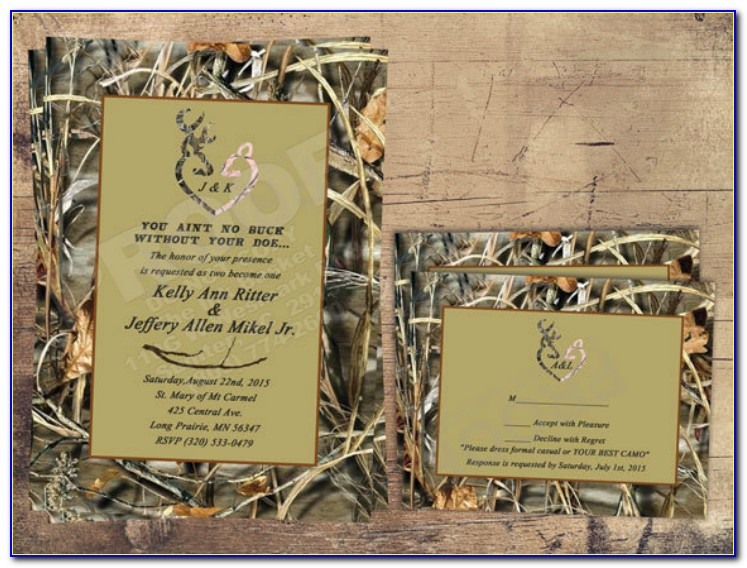 Free Printable Camo Wedding Invitation Templates