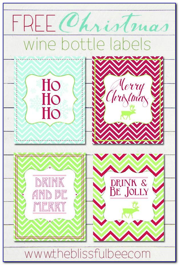 Free Printable Christmas Wine Label Template