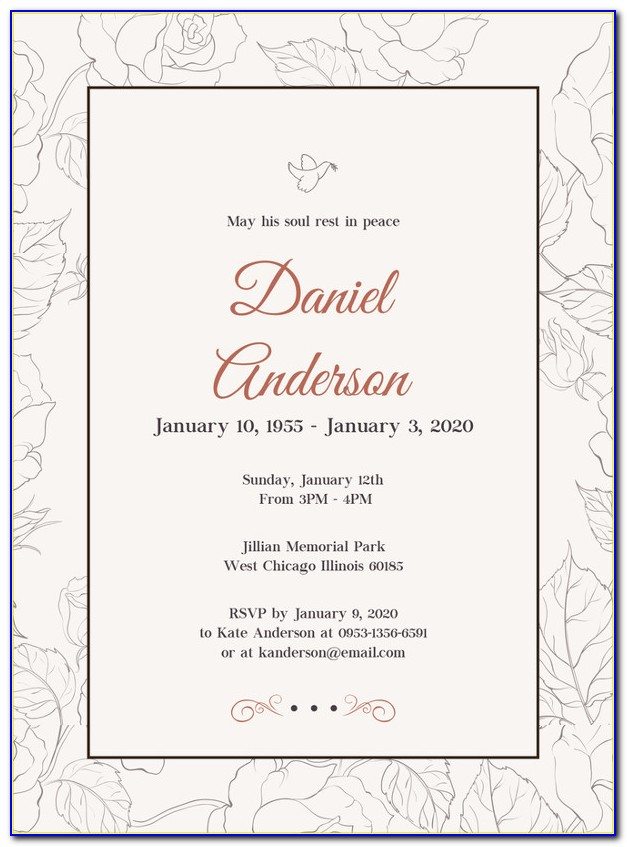 Free Printable Funeral Announcement Template